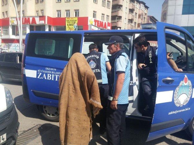Polis ve zabıtadan ortak dilenci operasyonu