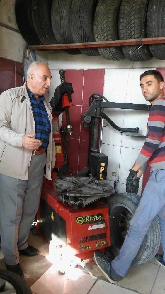 Başkan Karael'den oto lastik tamircilerine fiyat tarifesi asma uyarısı