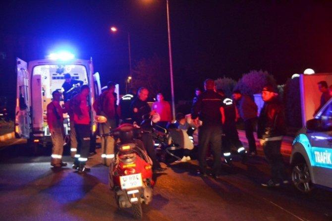 Ayvalık'ta motosiklet kazası: 1 yaralı