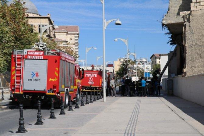 Gaziantep'te kullanılmayan barakada yangın