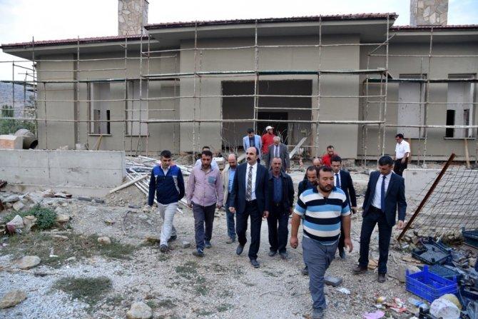 Başkan Altay yapımı devam eden Tepekent Sosyal Tesisini inceledi