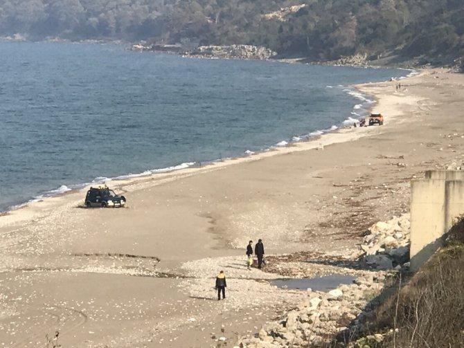 Off road'cılar kuma saplandı