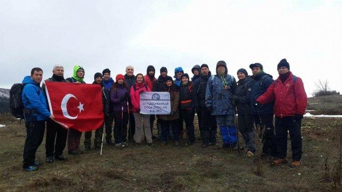 AFDOS üyeleri Ahır Dağları'na zirve yaptı