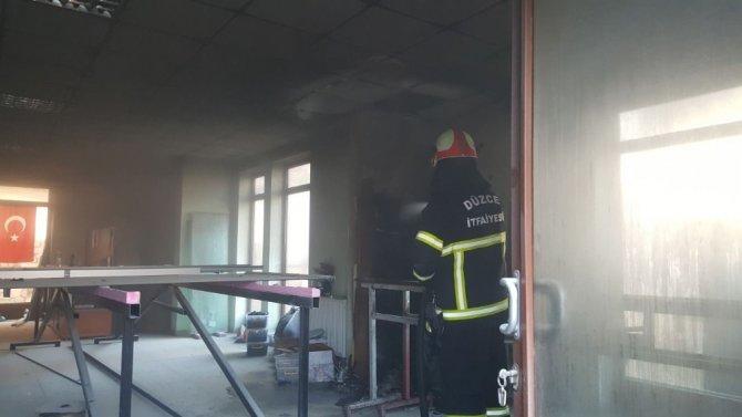 Düzce'de yangın