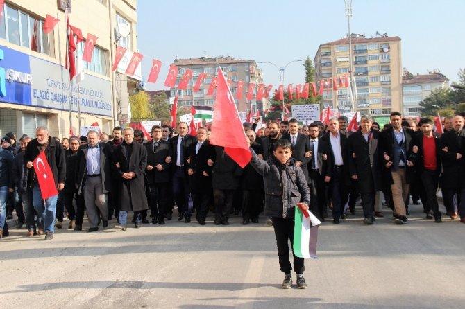 Elazığ'da Trump'a tepki yürüyüşü