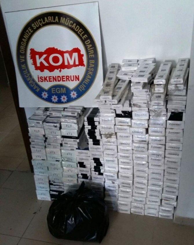 Hatay'da sigara kaçakçılığı operasyonu
