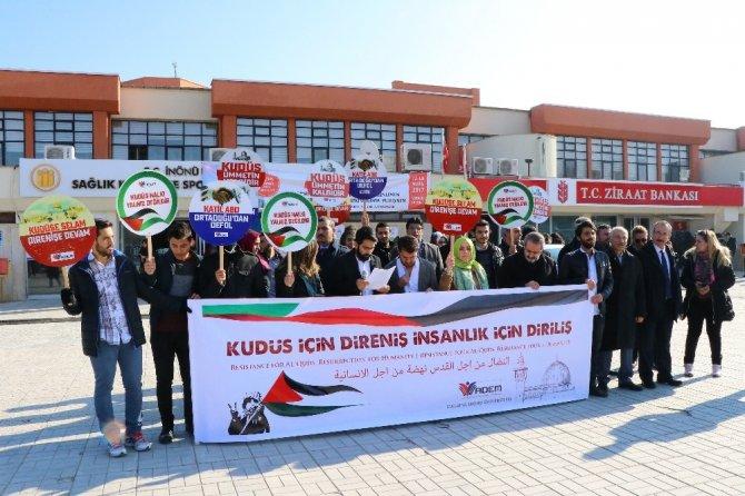 Üniversite öğrencilerinden Kudüs eylemi