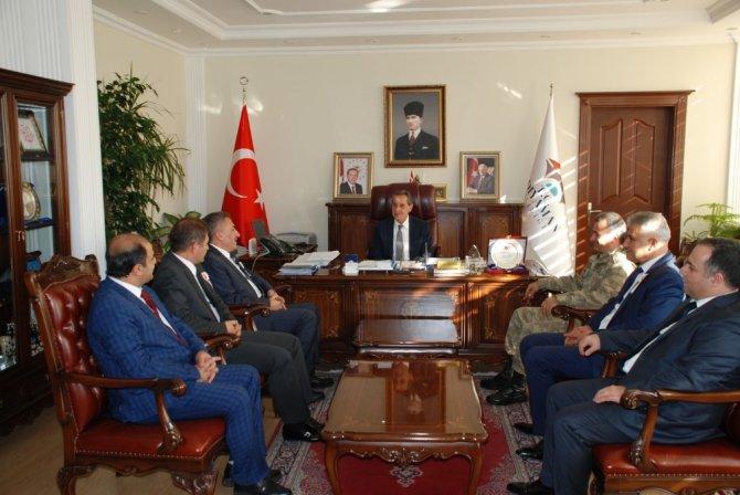 Türkiye Petrolleri Müdürü Aslandere, Vali Kalkancı'yla bir araya geldi