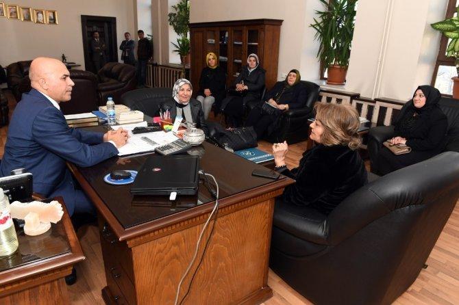 Ak Parti Genel Merkez Kadın Kolları MYK üyesi M.Belma Erdoğan, Başkan Korkut'u ziyaret etti (Düzeltme)