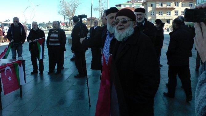 Akçakoca'da STK temsilcileri, ABD'nin Kudüs kararını protesto ettiler