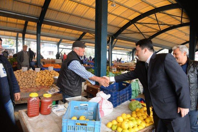 Başkan Avcı, pazar esnafını ziyaret etti