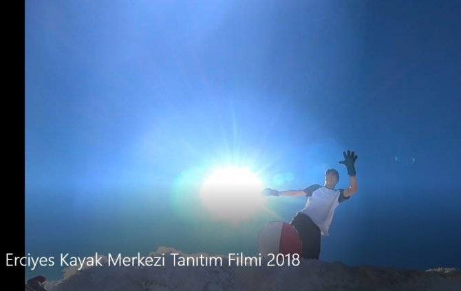 Erciyes Kayak Merkezi'nin tanıtım filmi büyük ilgi gördü