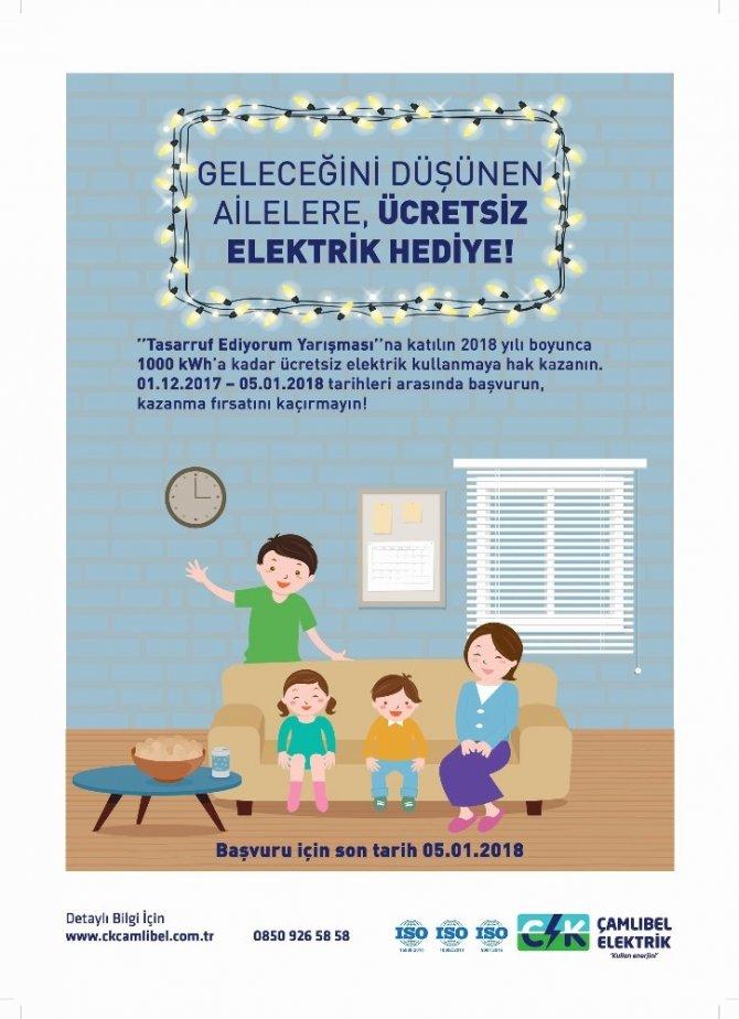 CK Çamlıbel Elektrik'ten tasarruf eden 30 aileye bedava elektrik