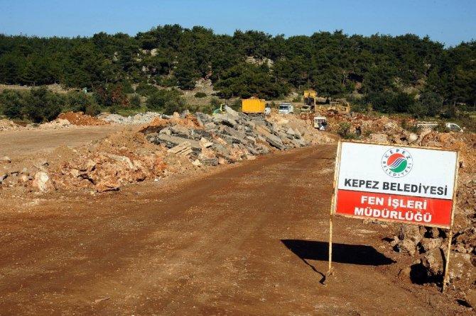 Kepez Belediyesi'nden  Çankaya'ya bağlantı yolu
