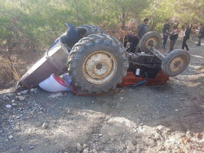 Gördes'te traktör kazası: 1 ölü