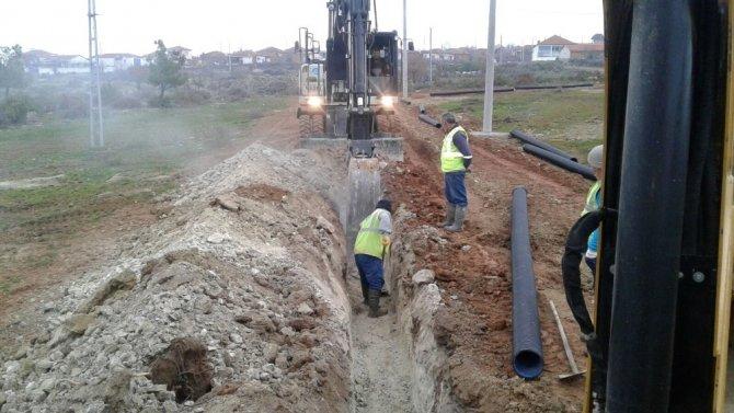 Ortaköy Mahallesine ek kanalizasyon hattı