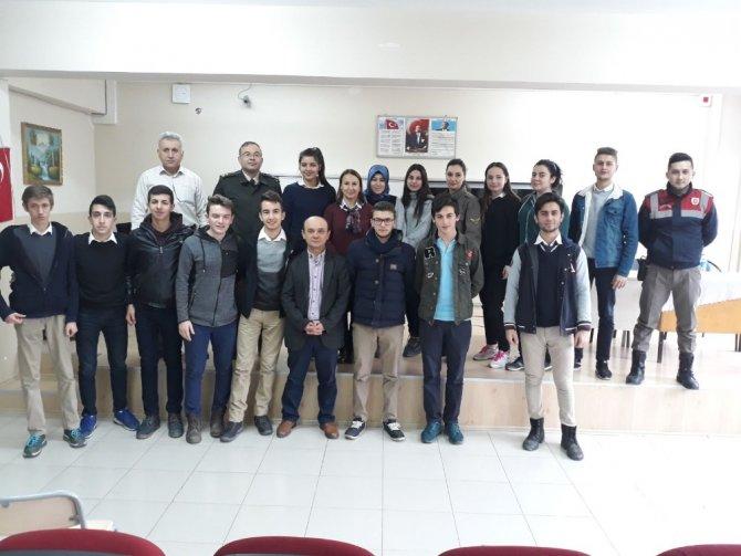 Öğrencilere jandarma meslek tanıtımı yapıldı