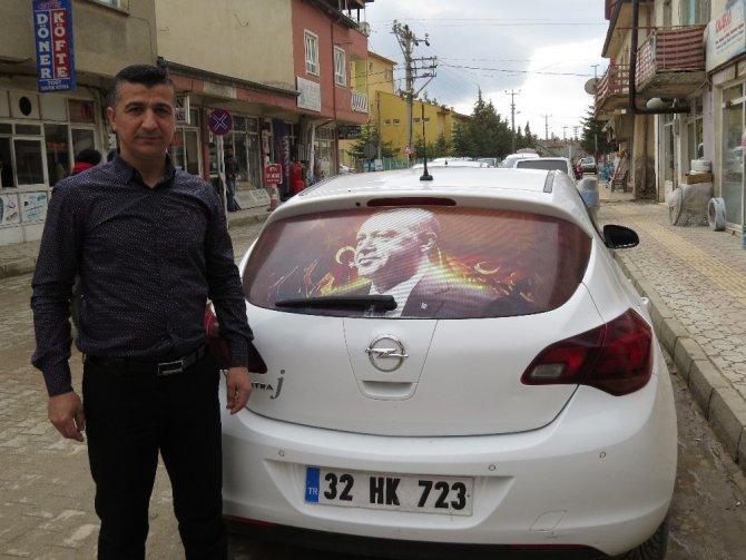 Ispartalı özel güvenlikçinin Cumhurbaşkanı Erdoğan hayranlığı