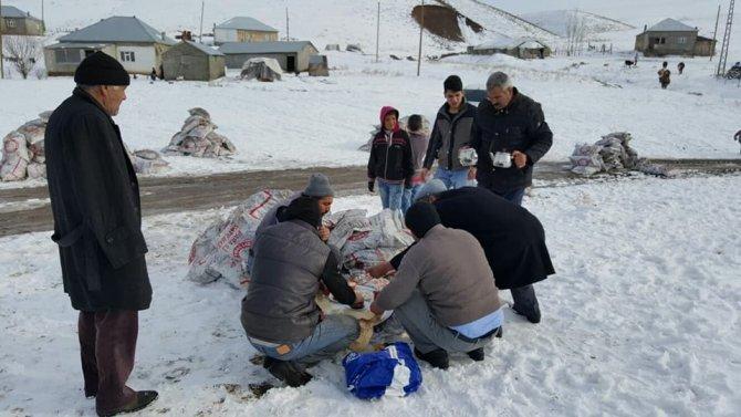 Malazgirt'e kömür dağıtımı devam ediyor