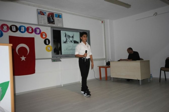 """Sorgun'da """"Necip Fazıl Kısakürek"""" şiir yarışması yapıldı"""
