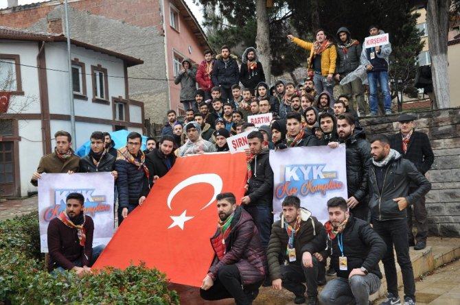120 öğrenci KYK Kış Kampı için Bilecik'te