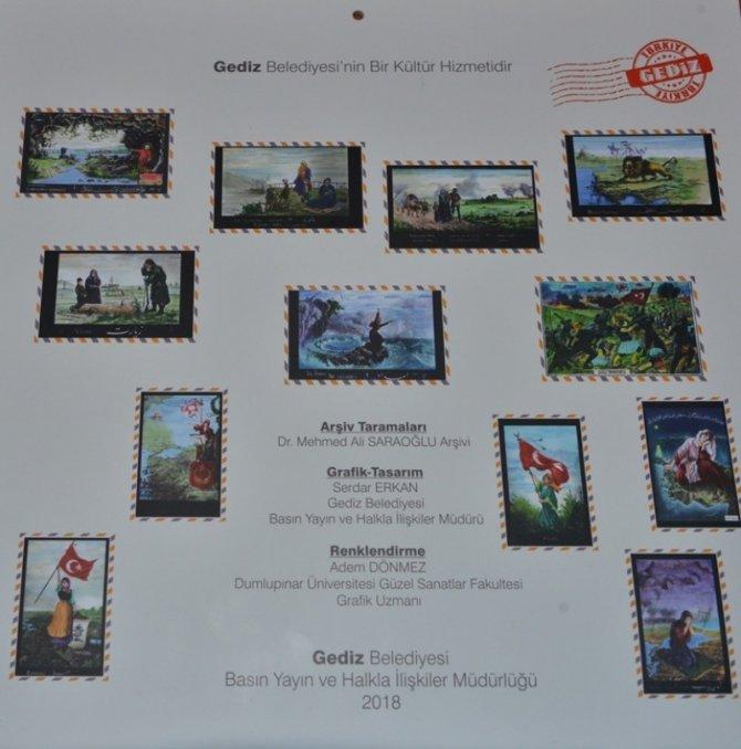 Gediz Belediyesi'nden 'Milli Mücadele Kartpostalları' takvimi