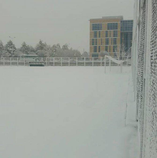 Kar yağışı amatör maçları vurdu