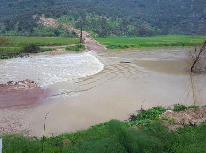Milas'ta tarım arazileri sular altında kaldı