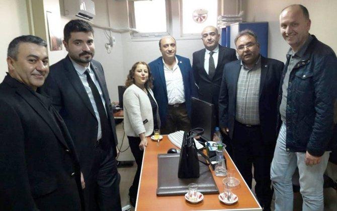 Aydın Sağlık-Sen'den Aydın Devlet Hastanesi'nin yeni yönetimine ziyaret