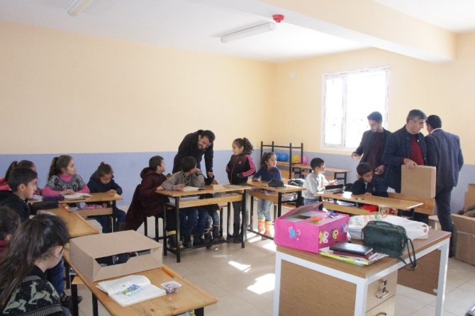 USMED'in yardımı köy okullarına ulaştı