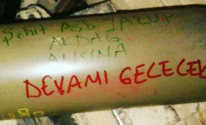 Mehmetçik Afrin'de Şehit Yakup Akdağ'ı unutmadı