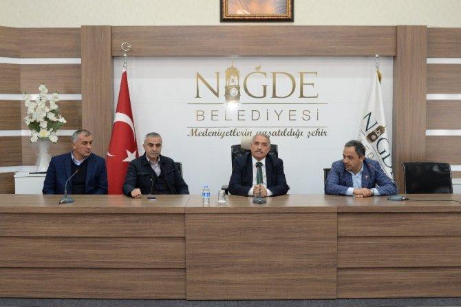 Aşağı Kayabaşı Mahallesi'nden Niğde Belediye Başkanı Özkan'a ziyaret