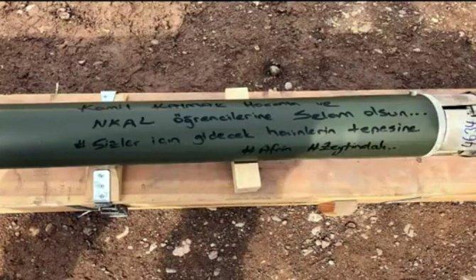 Öğrencilerin Afrin şehitleri için hazırladıkları klibe askerlerden füzeli teşekkür
