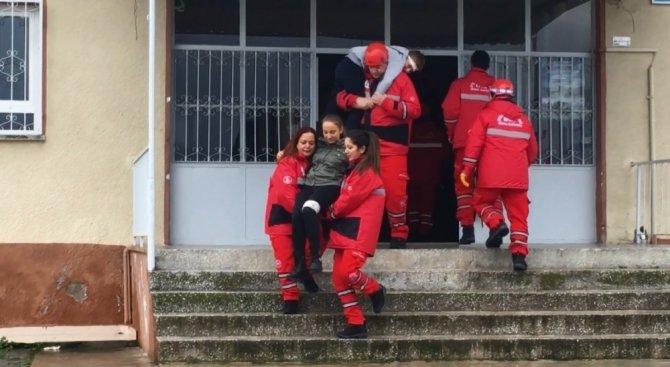 EFAK, Nazilli'de deprem tatbikatı düzenledi