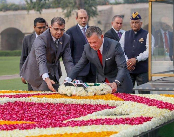 """Ürdün Kralı Yeni Delhi'de: """"Terörizme karşı mücadele dinler arası bir savaş değildir"""""""