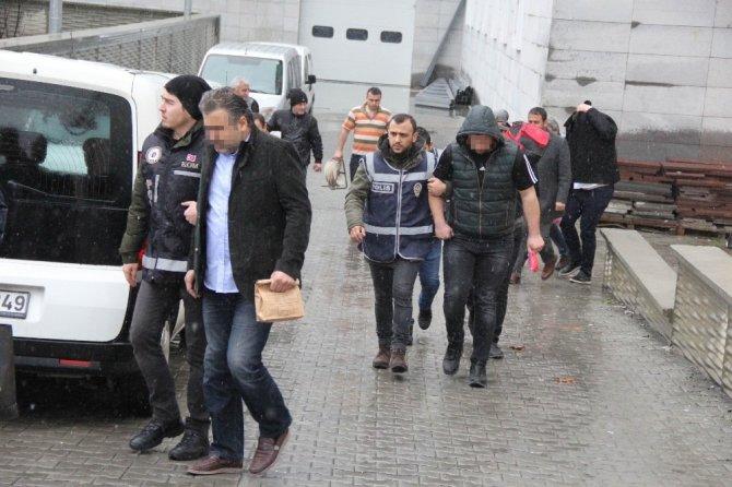 Samsun merkezli silah kaçakçılığı operasyonunda 7 kişi adliyeye sevk edildi