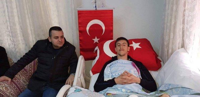 Afrin'de Amerikan yapımı mayın yüzünden ayaklarını kaybetti