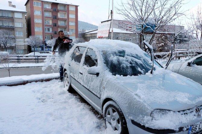 Yozgat'ta kar sevinci
