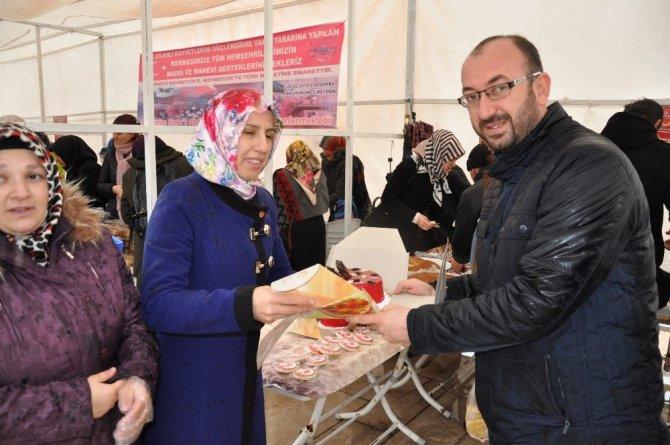 Simavlı bayanlardan Afrin'e destek kermesi