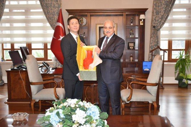 Vali Güvençer Çin Başkonsolosunu ağırladı