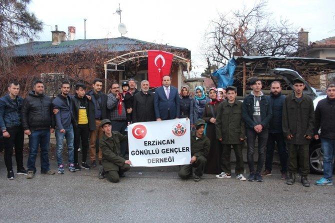 Erzincan'ın yöresel ürünleri Mehmetçiğe gönderildi