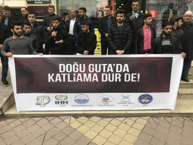 Iğdır'da Doğu Guta için basın açıklaması