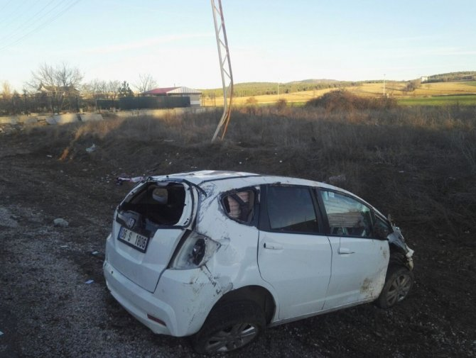 Konya'da otomobil takla attı: 1 ölü