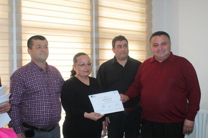 Mersinli girişimciler sertifikalarını aldı