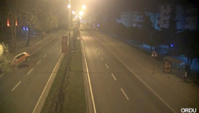 Ordu'da trafik kazaları MOBESE'de