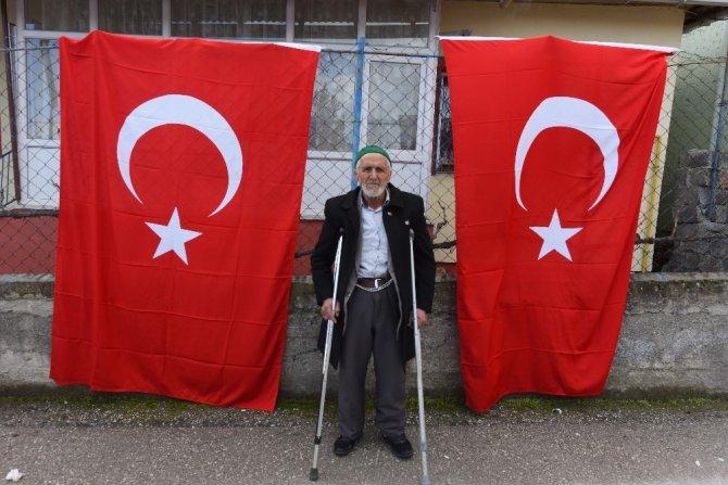 Emekli maaşı ile Afrin şehitleri için mevlit okuttu