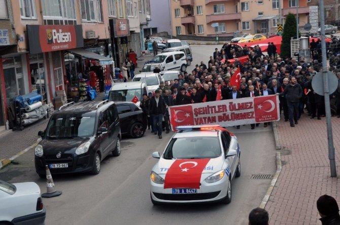 Yenice'den Mehmetçik'e destek yürüyüşü