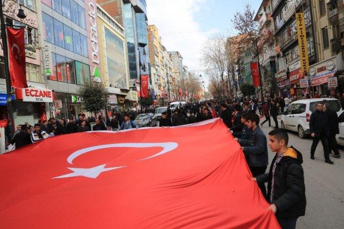 Malatya'da Mehmetçiğe destek yürüyüşü