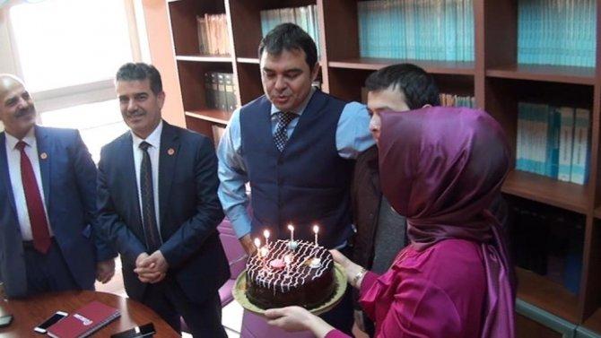 Kaymakam Balcı'ya doğum günü sürprizi