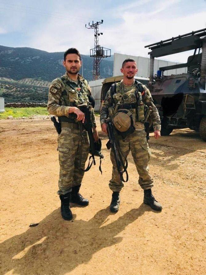 Afrin kahramanları Başkan Tekin'e cepheden selam gönderdi